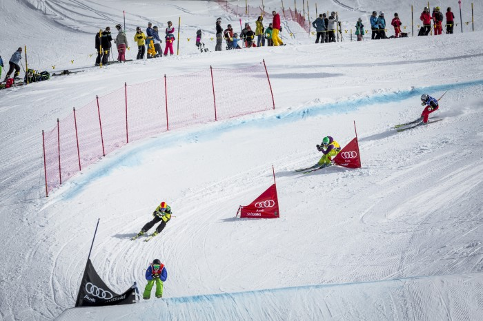 Audi Skicross Tour on Sunday, Zweisimmen, Switzerland.