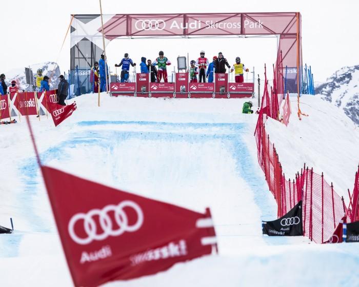 Audi Skicross European Cup, Lenk, Switzerland.© Dominic Steinmann, www.dominicsteinmann.com